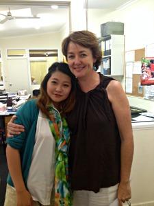 Mirai and teacher Kerri