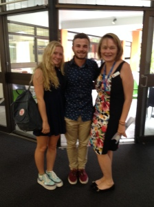 Nina with candidates from Sunshine Beach High School