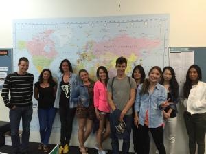 Raoul, Vicky, Sara, Leire, Yu, Raphael, Kaori, Kanako, Yurina and Summer